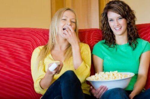 filmkveld med venner