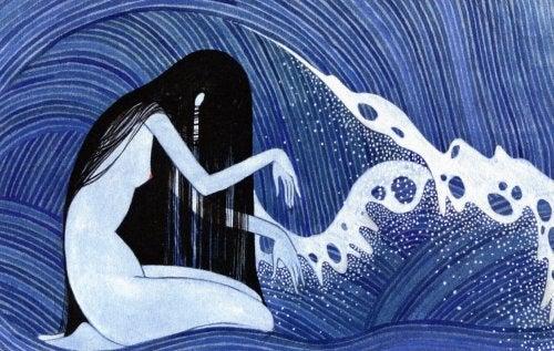 kvinne-hav