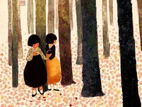 jenter i skogen