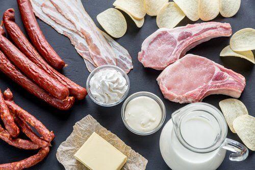 Kjøtt, meieriprodukter og potetgull