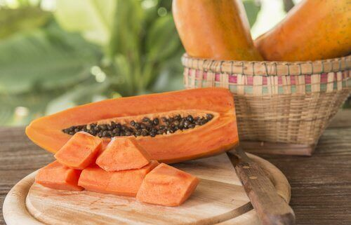 Kiwismoothie med papaya