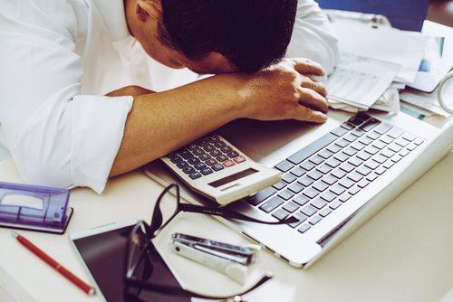 sliten ved tastaturet