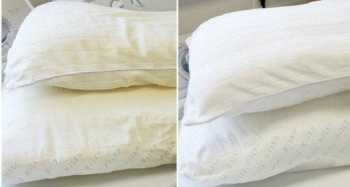 Slik får du putene og madrassen hvite igjen