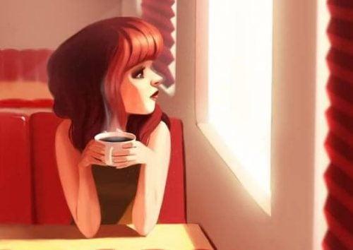 figur med kaffe