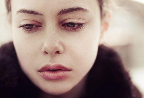 deprimert kvinne