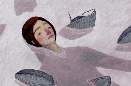 mann i vannet
