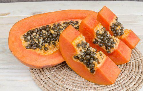Oppskjært papaya