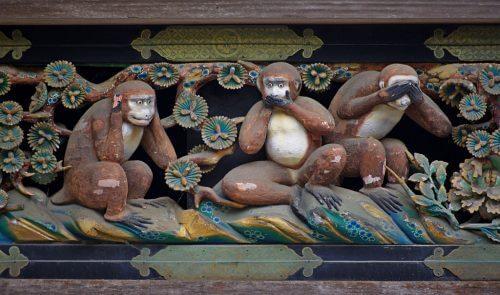 """Den virkelige, fascinerende leksjonen av de """"tre vise aper"""""""