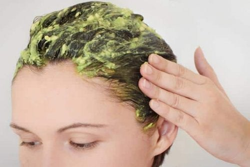avokado i håret