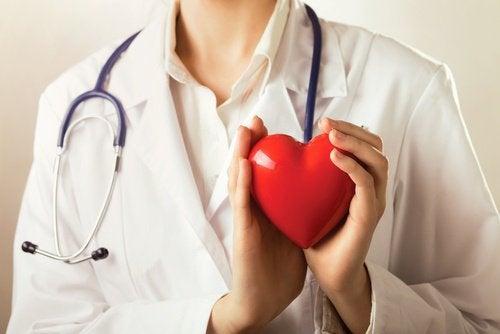 En lege holder et hjerte