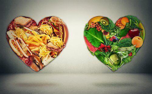 Matvarer i hjerter
