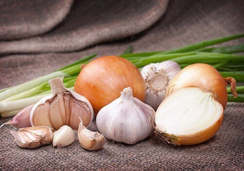 Løk og andre sunne matvarer