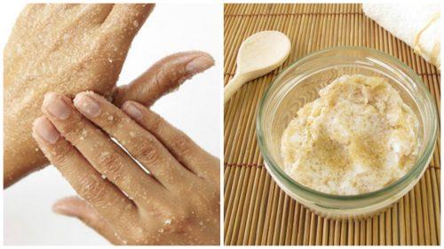 Slik lager du en naturlig sukkerskrubb for å mykgjøre hendene dine