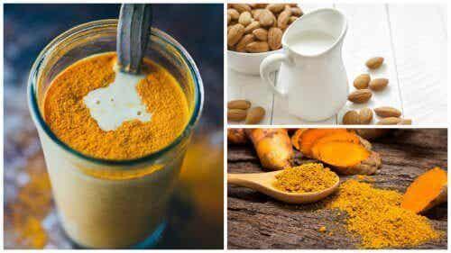 Antiinflammatorisk drikk med gurkemeie og mandelmelk