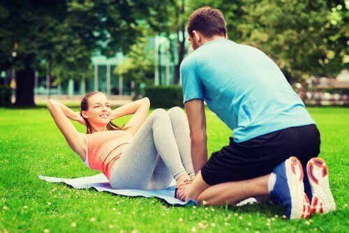trening i park