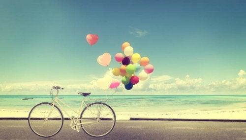 Sykkel med ballonger