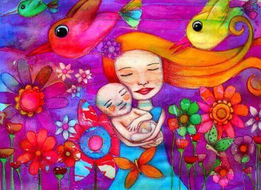 Mamma og baby