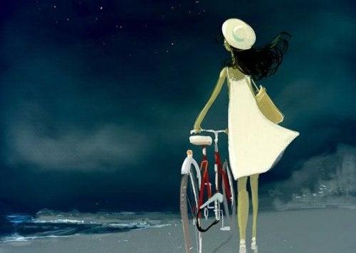 Kvinne med sykkel