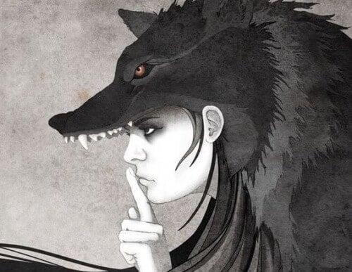 Kvinne i ulvedrakt