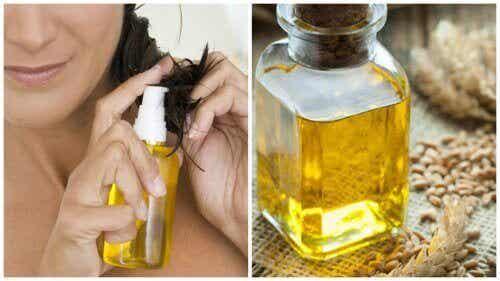 6 måter å bruke hvetekimolje for sunnere hår