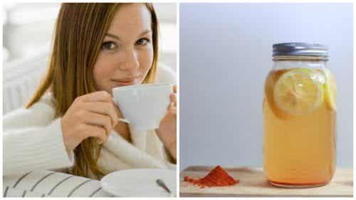 Forbedre kroppens velvære med gurkemeie- og sitronvann