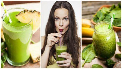 5 grønne smoothies for å avgifte kroppen og gå ned i vekt