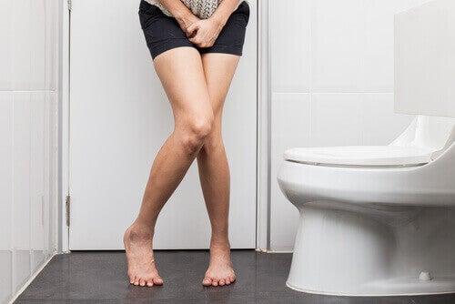 kvinne pa badet