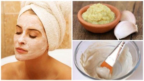 Slik lager du en rensende hvitløksmaske for huden din