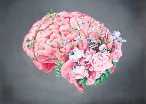 hjernen med blomster