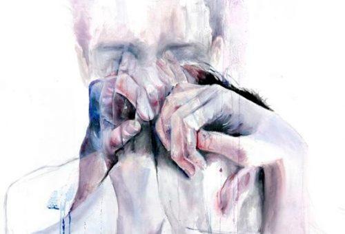 Personer gråter