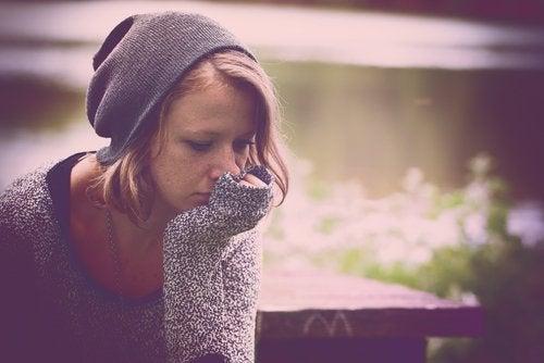 Kvinne med depresjon