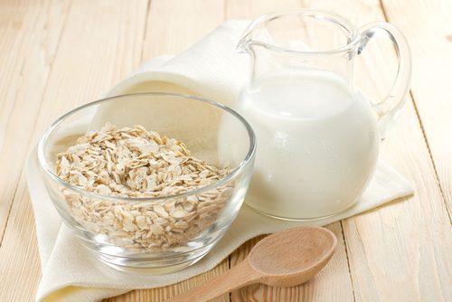 Havregryn og melk