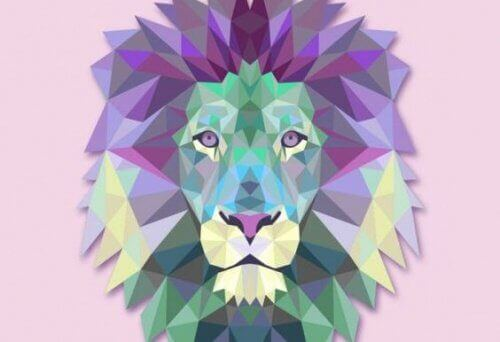 Fargerik løve