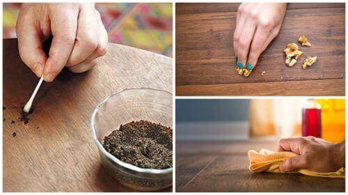 8 triks for å bli kvitt riper på tremøbler