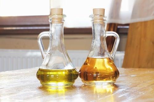 Eddik og olivenolje