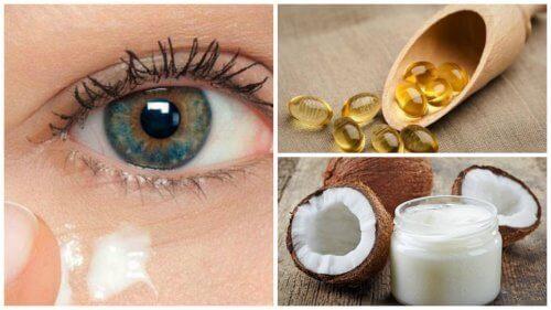 Få yngre hud rundt øynene med en naturlig kokosoljekrem