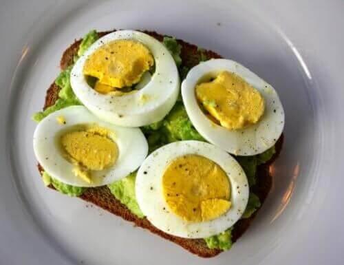 Avokado og egg på grovbrød
