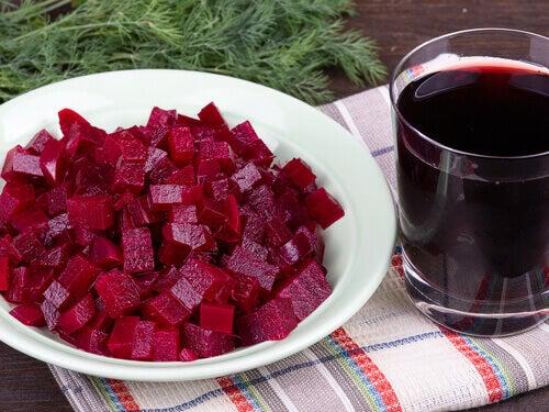 Matvarer som renser leveren, rødbeter