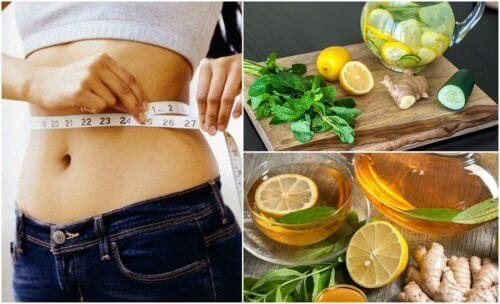 Gå ned i vekt med ingefær og sitron