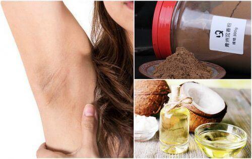 Hvordan lysne mørke flekker i huden i armhulene med 6 naturlige produkter