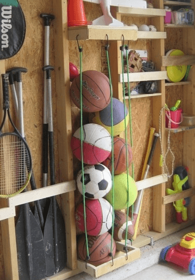 Baller i garasje