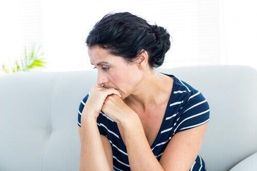 Kvinne med angst