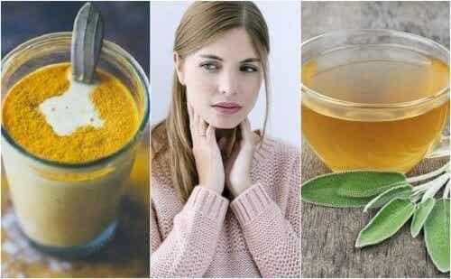 Remedier for å behandle en sår hals