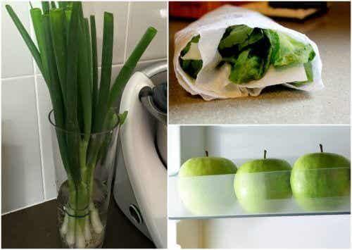 9 triks som vil hjelpe deg med å holde maten frisk lenger