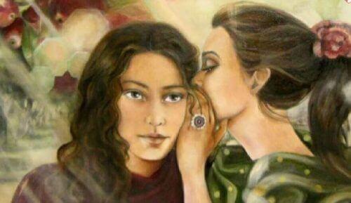 Kvinne deler hemmelighet