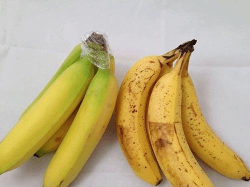 Bananer med plastfolie
