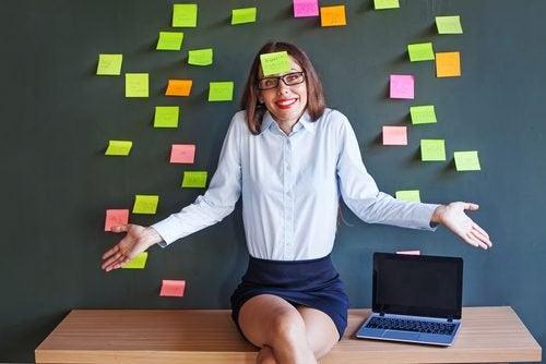 Kvinne på jobb