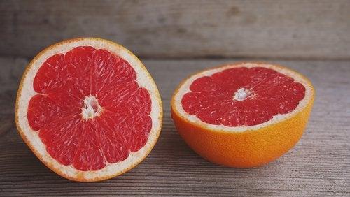 Grapefrukt for å redusere ødem
