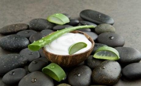 Kokos- og aloe vera-krem