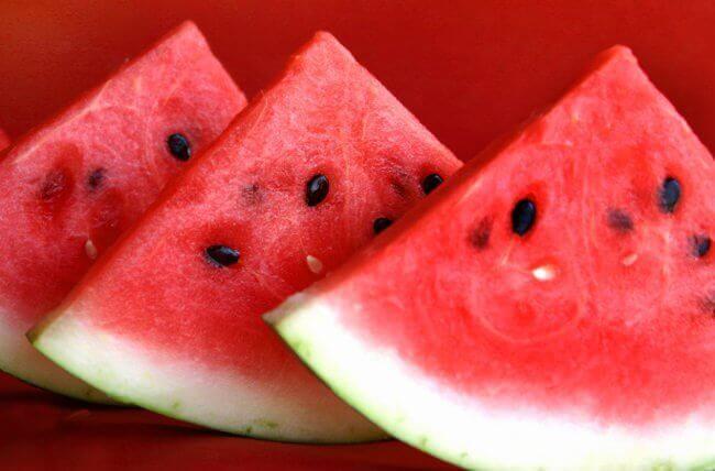 Vannmelon for å redusere ødem